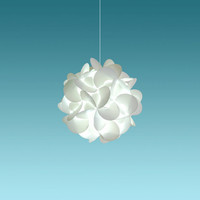 """Akari Small Rounds 12"""", Cool White Glow, Modern Hanging Light Fixtures Plug in or Hardwire as Pendant Lamp, bulb included, Easy to install"""