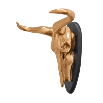 Benzara 63897 Resin Animal Skull Wall Decor
