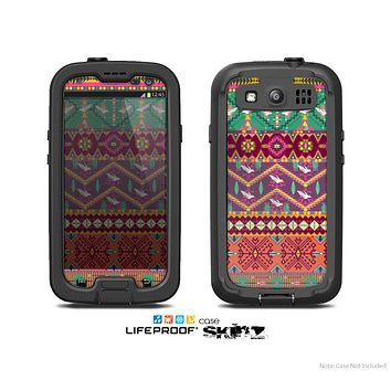 The Vector Aztec Birdy Pattern copy Skin For The Samsung Galaxy S3 LifeProof Case