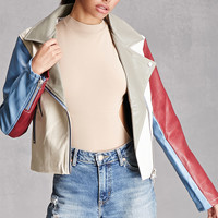 Colorblocked Moto Jacket