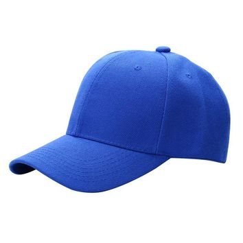 Men Women Plain Baseball Cap Unisex Curved Visor Hat Hip-Hop Adjustable Peaked Hat Visor Caps Solid Color