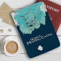 Howl's Moving Castle Howl Jenkins Pendragon Leather Passport Wallet Case Cover