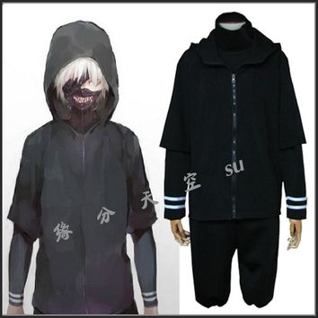 New Tokyo Ghoul Ken Kaneki Cosplay Costume Daily Hoodie Free Shipping Shirt+Coat