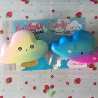 RARE Bubu the cloud squishy Galaxy and Rainbow Edition scented