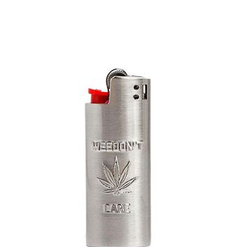 Weedon't Care Small Metal Lighter Case
