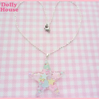 Pastel Miracle Star Necklace by Dolly House by SweetDollyHouse