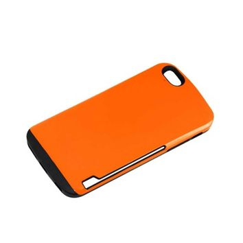 Reiko REIKO IPHONE 6 PLUS CANDY SHIELD CASE WITH CARD HOLDER IN ORANGE