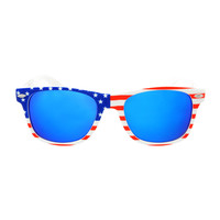 Mirror Lens USA American Flag Cool Party Wayfarer Sunglasses W1990