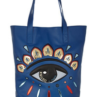 KENZO - Eye-embellished leather tote