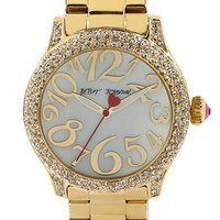 Women's Betsey Johnson Pave Case Bracelet Watch, 41mm