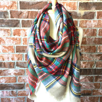 The Half Size Plaid Scarf