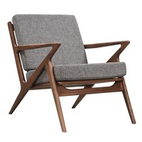 Jet Accent Chair GREY - WALNUT