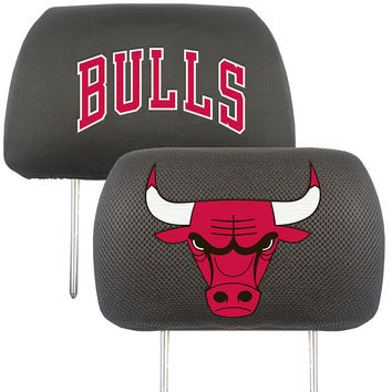 Chicago Bulls NBA Polyester Head Rest Cover (2 Pack)
