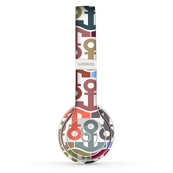 The Color Vector Anchor Collage Skin Set for the Beats by Dre Solo 2 Wireless Headphones