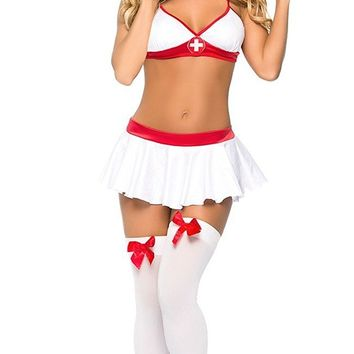Women's Sexy Nurse Lingerie Halloween Role play Party Uniform Sexy Nurse Costume