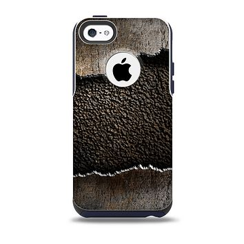 The Grunge Ripped Metal with Bevel Skin for the iPhone 5c OtterBox Commuter Case