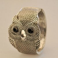 Fashion Vintage Personality Huge Big Owl Bronze Cuff Bangle Bracelet Jewelry
