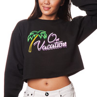 On Vacay Crop Sweatshirt