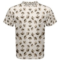 Autumn Leaves Motif Pattern Men's Sport Mesh Tee