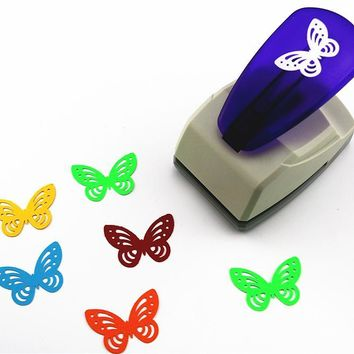 Super big butterfly embossed device embossed punch Christmas tree foam paper puncher figure size 3.8-4.3cm Children Toys