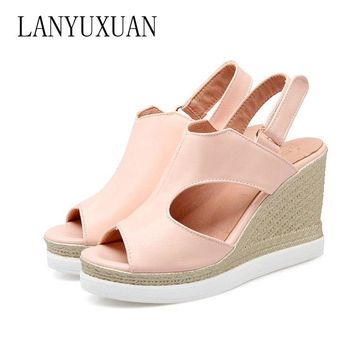 Summer Style Women shoes high heel Casual Platform Flat with Home Beach Flip Flops Platform Sandals Slippers Shoes  530