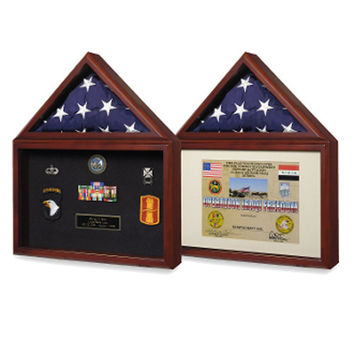 Military Medal - Flag Display Case - Flag Medal Holder Hand Made By Veterans