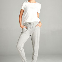 French Terry Jogger Pants - Heather Grey