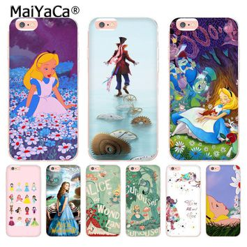 MaiYaCa Alice In Wonderland Retro Movie Poster Coque Shell Phone Case for Apple iPhone 8 7 6 6S Plus X 5 5S SE 5C 4 4S Cover