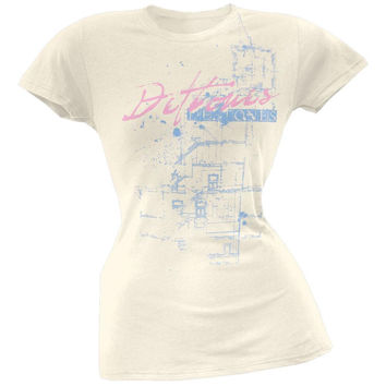 Deftones - Blue Print Juniors T-Shirt