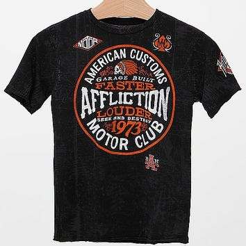 Boys - Affliction American Customs Petrol T-Shirt