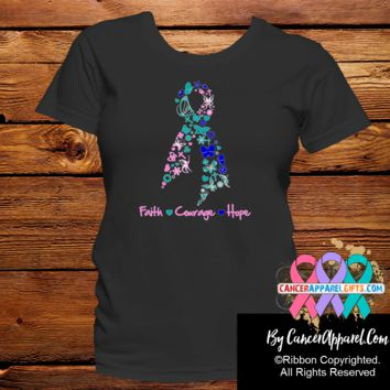 Thyroid Cancer Faith Courage Hope Shirts