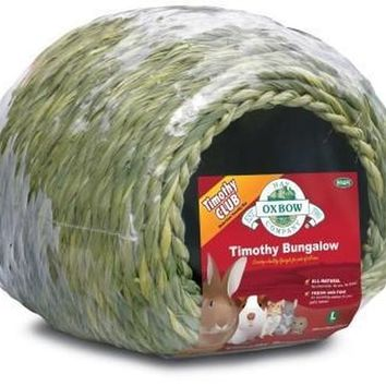 Oxbow Timothy Hay Edible Small Pet Bungalow Cave Sz: Large