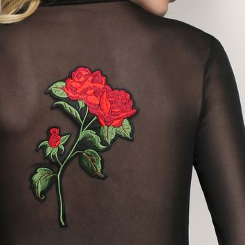 ROSE & THORN MESH TOP