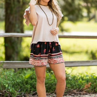 Petal Allure Shorts, Black