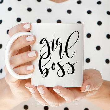 Girl Boss Mug, Lady Boss Mug, Mug With Quote, Boss Mug, Coffee Mug, Gift For Her, Coffee Cup, Office Decor, Desk Accessories, Mug Gift