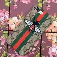 GUCCI Embroidery iPhone Phone Cover Case For iphone 6 6s 6plus 6s-plus 7 7plus Protect