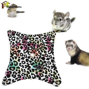 Pet Hamster Hammock Durable Canvas Pets Hammock Hanging Bed Cage Mat Suitable For Pet Hamster Guinea Pigs Chinchillas