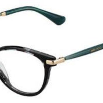 Jimmy Choo - Jc 153 Havana Green Gold Eyeglasses / Demo Lenses