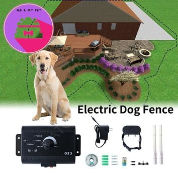 Safety Pet Perimeter Hidden Electric Fence With Waterproof Receiver Collar Invisible Electric Dog Fence Containment System