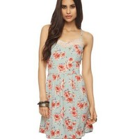 Lace Inset Floral Dress | FOREVER 21 - 2000041525
