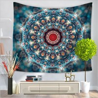 Home Decor Wall Hanging Colorful Mandala Tapestry Colorful Fabric Throw Door Curtain Bedspread home decoration accessories