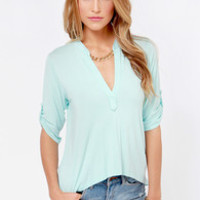Lucy Love Fairbanks Light Blue Top