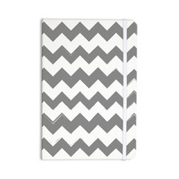"KESS Original ""Candy Cane Gray"" Chevron Everything Notebook"