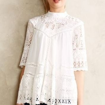 Chaine Peasant Top by Zimmermann White