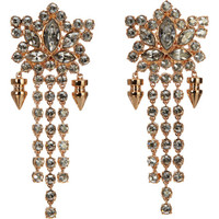Mawi Crystal & Spike Drop Earrings at Barneys.com
