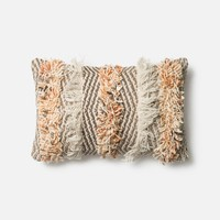 Loloi Rust / Ivory Decorative Throw Pillow (P0343)