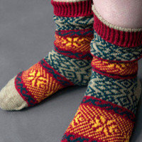 Socks By Sock Dreams  » Socks » Wonderland Fairisle Crews