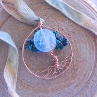 Once in a Blue Moon Tree of Life pendant