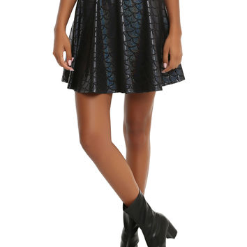 Mermaid Black Holographic Scale Skirt