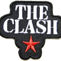 """3"""" x 2.75""""THE CLASH Red Star Band Heavy Metal Rockabilly Rock Punk Logo jacket T shirt Patch Iron on Embroidered music patch by Tourlesjours"""
